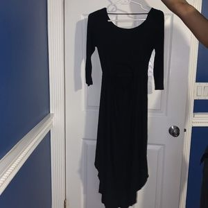 Black Highlow dress with cut out in back